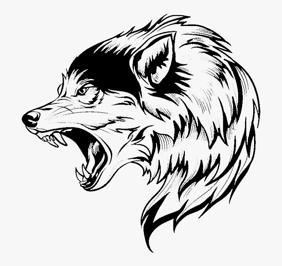 Transparent Wolf Vector Png - Wolf Head Png Vector, Transparent Clipart