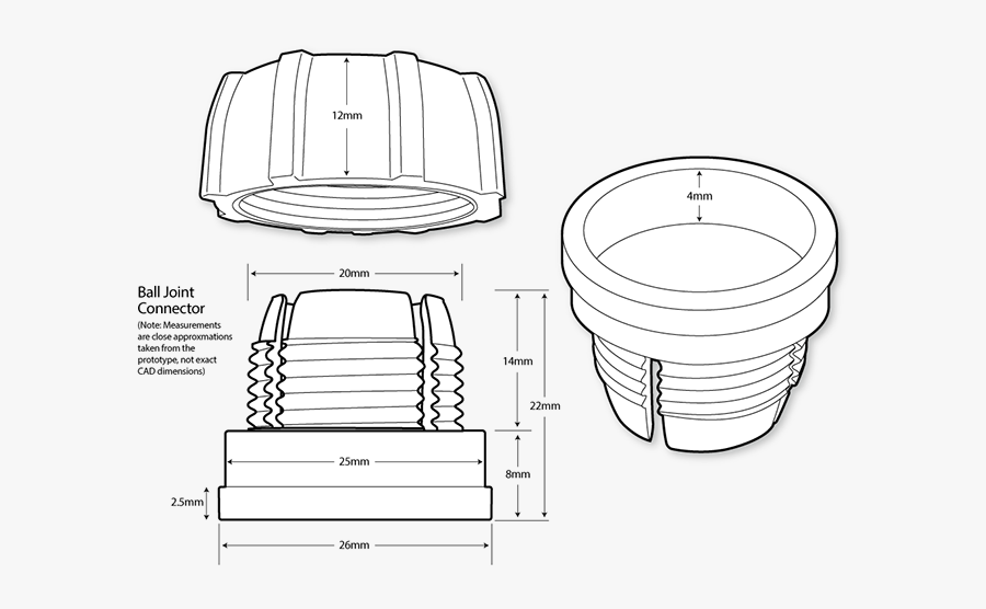 Line Drawings Of Prototype Parts Created Prior To The - Illustration, Transparent Clipart
