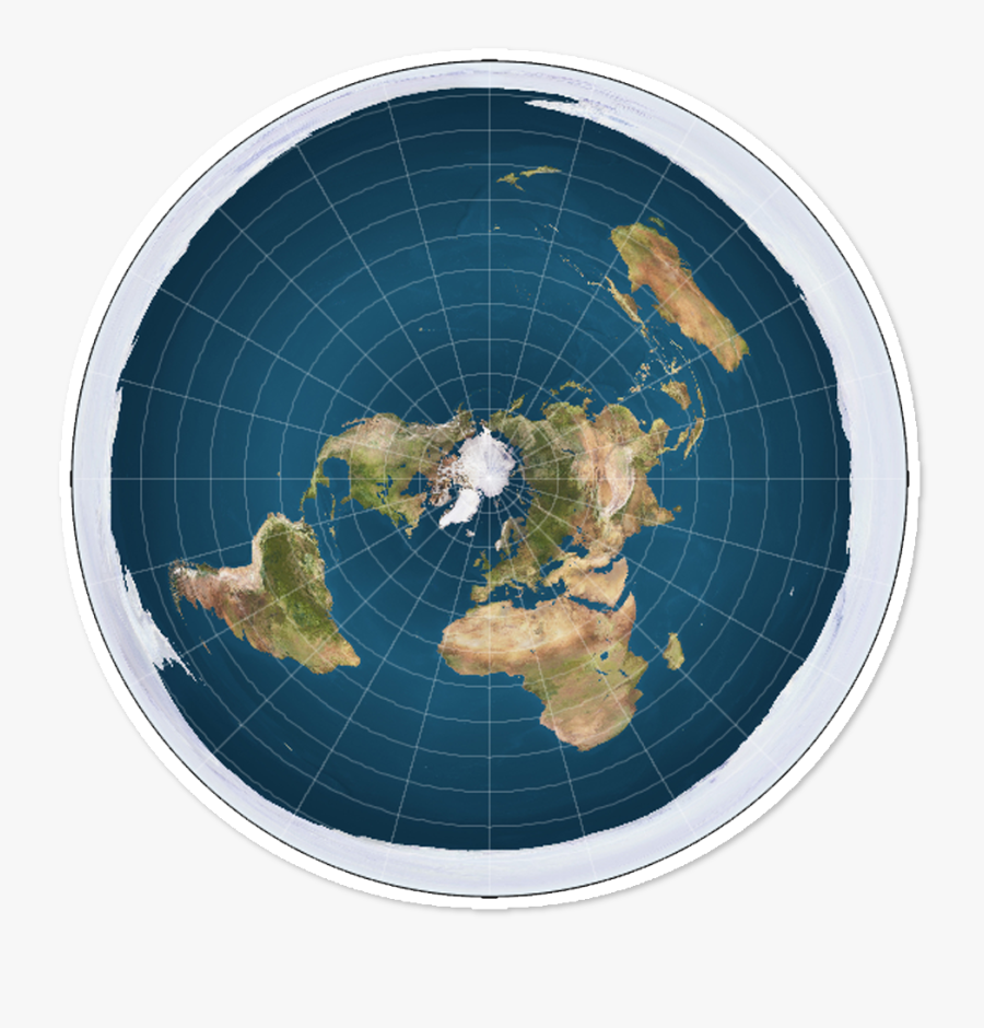 Flat Earth Society World Map - Flat Earth Map, Transparent Clipart