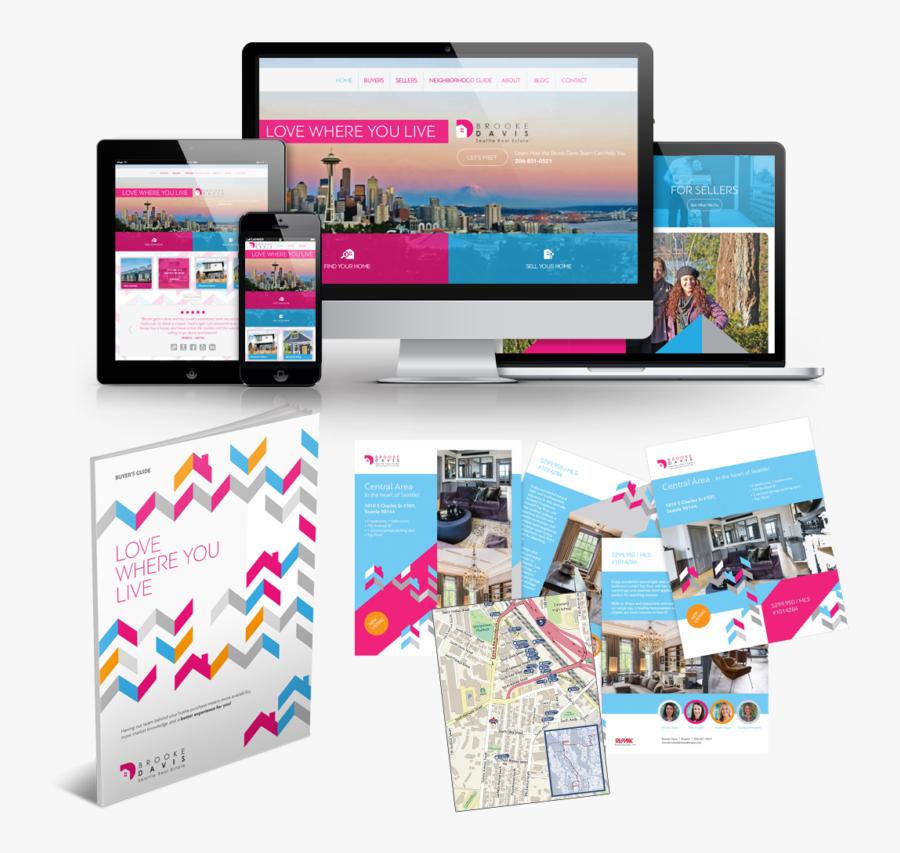 Real Estate Branding & Website - Graphic Design, Transparent Clipart