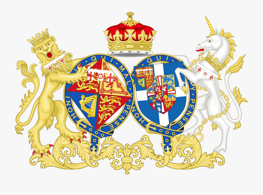 The Coat Of Arms Of Elizabeth And Philip, Combined - Coat Of Arms Women, Transparent Clipart