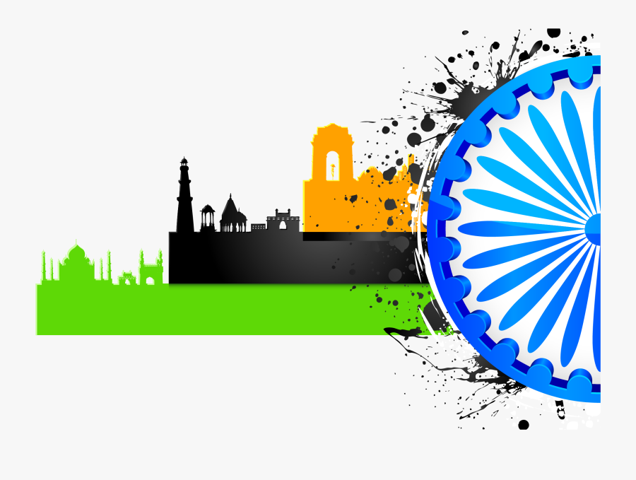 Transparent City Clipart Png - Beautiful Happy Independence Day, Transparent Clipart
