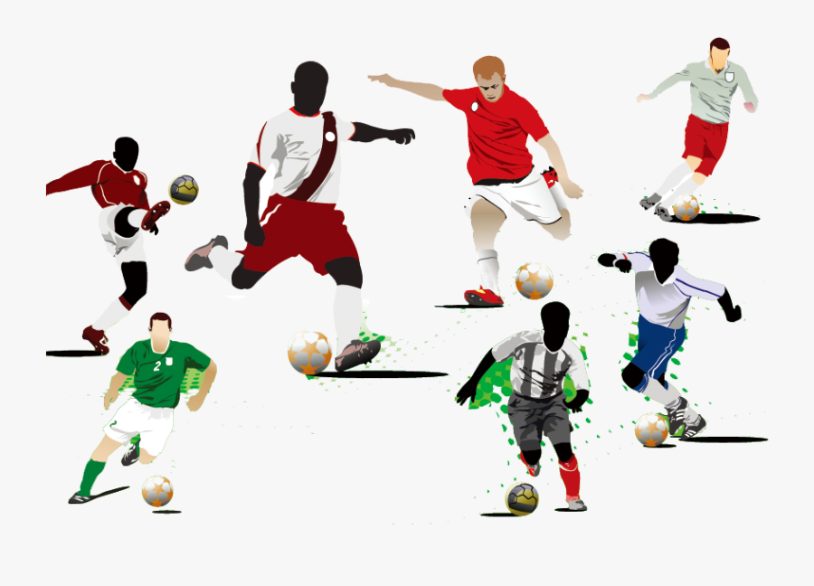 Royalty-free Stock Photography Clip Art - Soccer Player Kicking Ball, Transparent Clipart