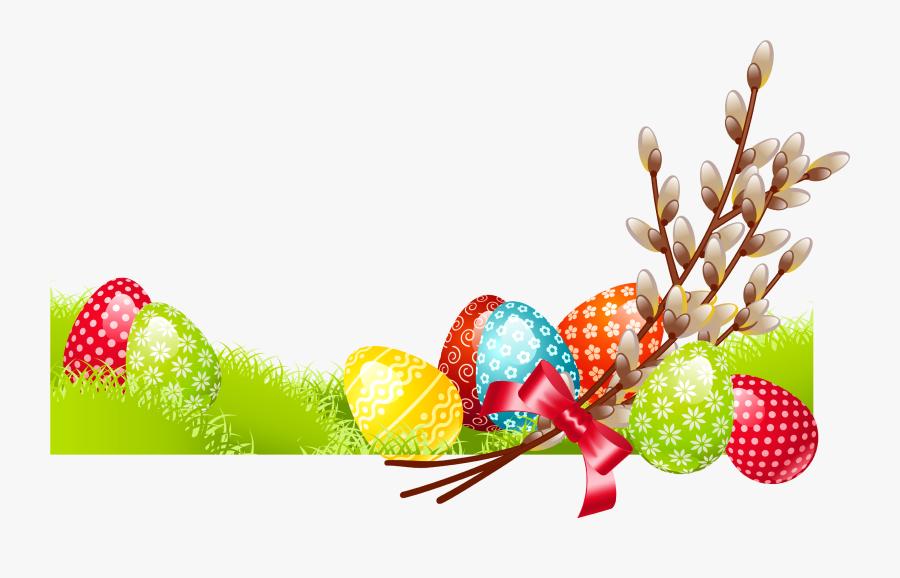 Clipart Easter Family - Bordure De Page Paques, Transparent Clipart