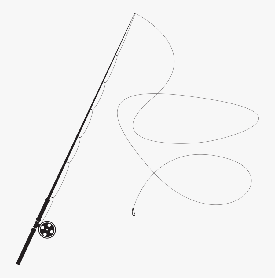 Fishing Rod Silhouette Line Art Free Transparent Clipart Clipartkey