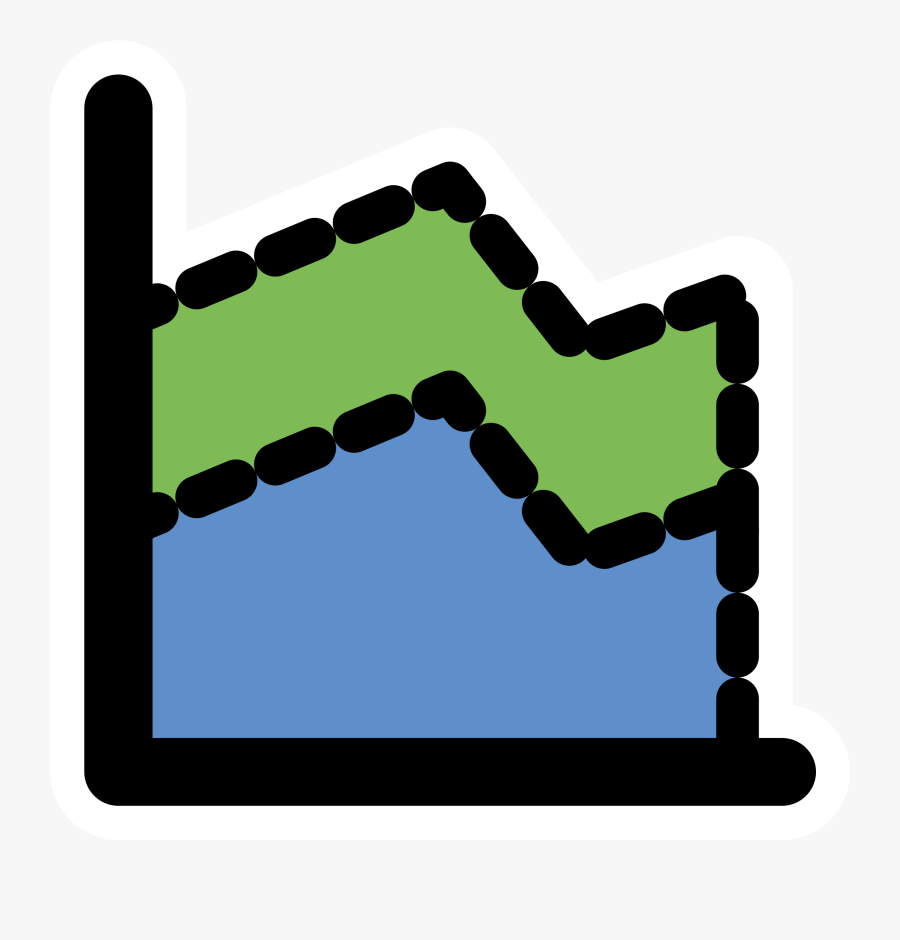 Area Chart Icon .png, Transparent Clipart