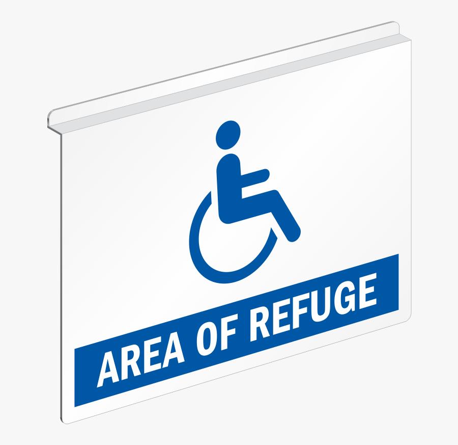 Area Of Refuge Ceiling Sign - Sign, Transparent Clipart
