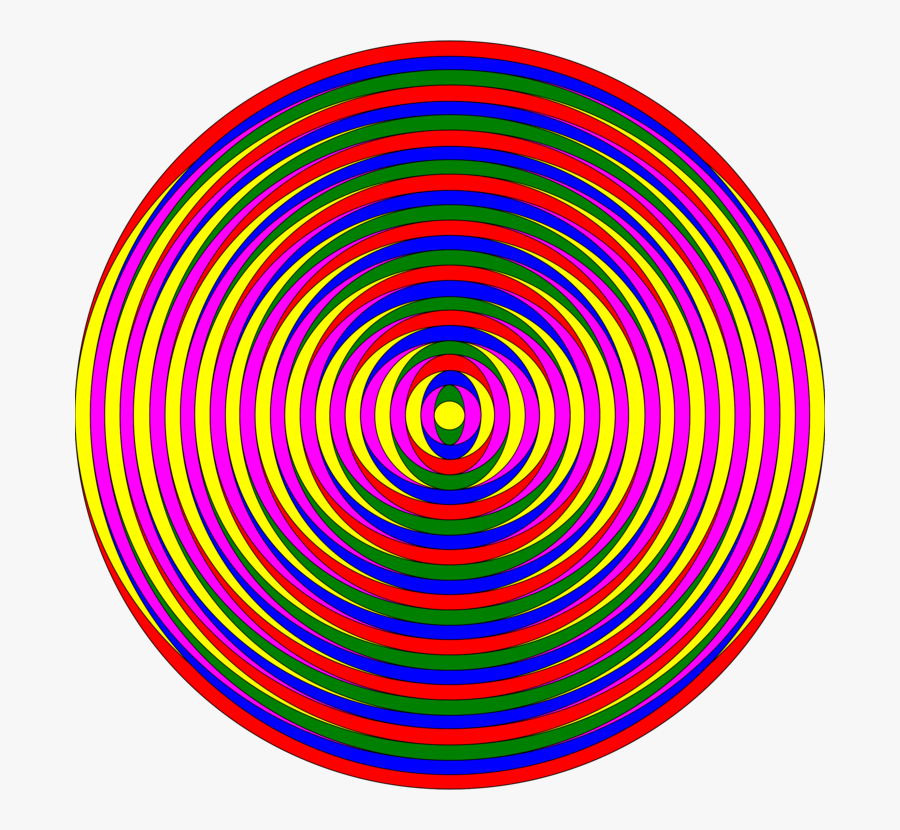 Circle Computer Icons Point Spiral Area - Colorful Images For Circle, Transparent Clipart