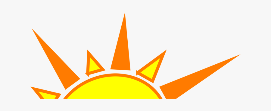 Angle,symmetry,area - Yellow And Orange Sun, Transparent Clipart
