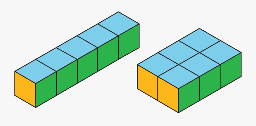 Cube Clipart Surface Area - Prisms With Same Surface Area But Different Volumes, Transparent Clipart