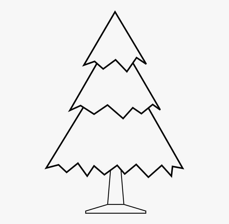 Easy Christmas Tree Coloring Pages Free Transparent Clipart Clipartkey