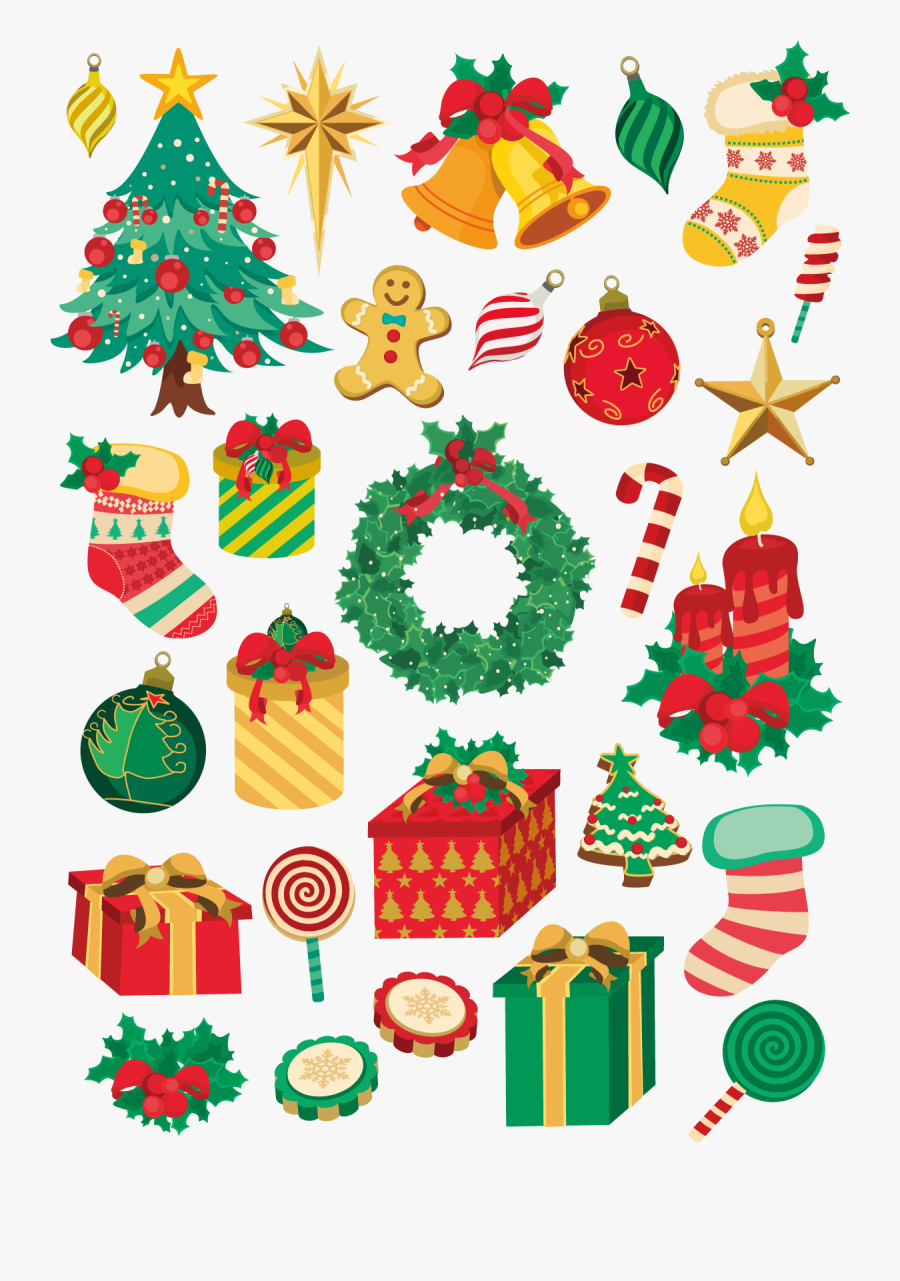Transparent Clipart De Noel Gratuit A Telecharger Christmas Elements Vector Png Free Transparent Clipart Clipartkey