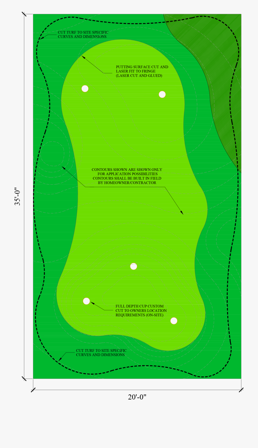Golfer Clipart Golf Green - Golf Green Dimensions, Transparent Clipart