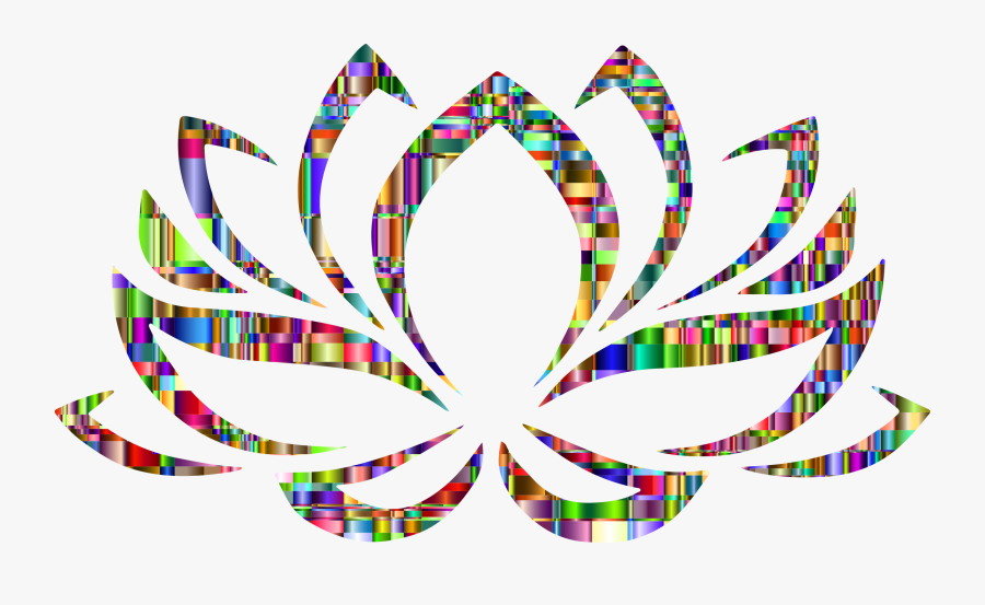 Checkered Chromatic Lotus Flower Clip Arts - Lotus Flower Hindu Symbols, Transparent Clipart