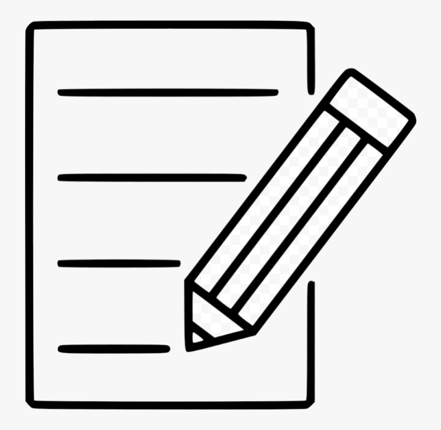 Pencil And Paper Icon Pen Clipart Computer Icons Transparent - Clip Art Pen And Paper, Transparent Clipart