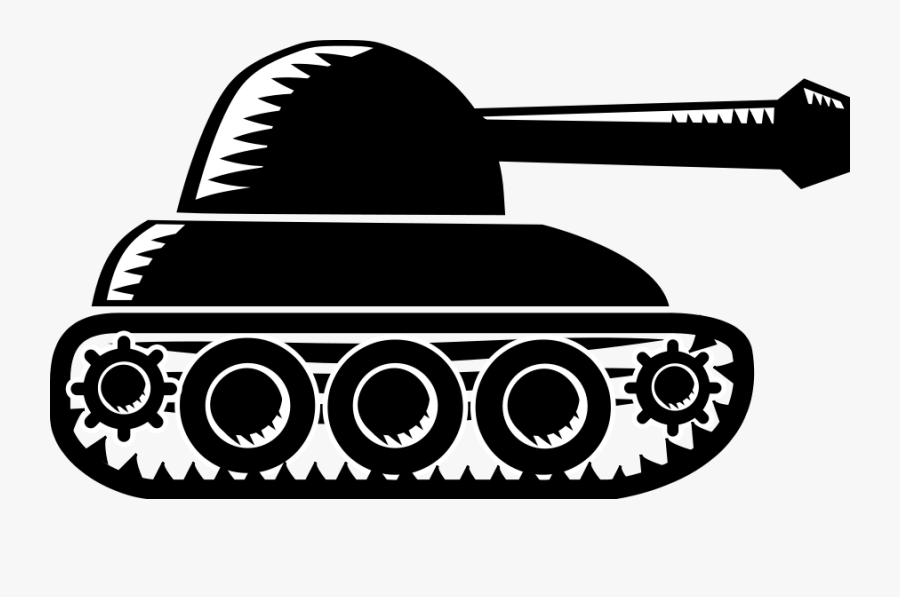 "Free Clip Art ""xylograph Tank - Tank Clipart Black And White, Transparent Clipart"