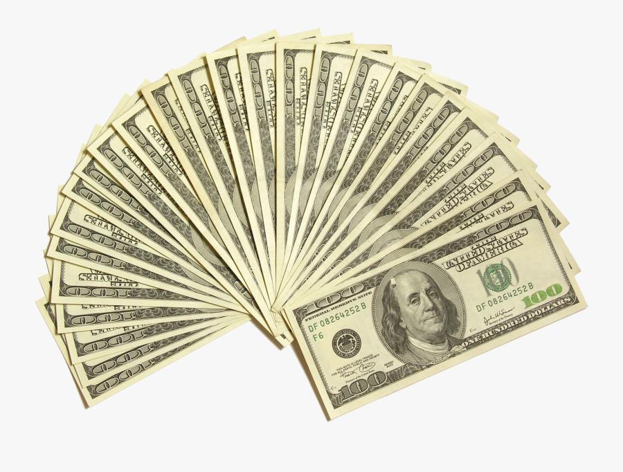 Us Dollar Png - Hundred Dollar Bills Png, Transparent Clipart