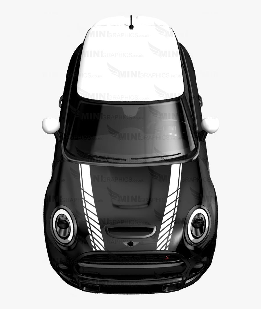 Transparent Mini Cooper Clipart - Black Mini Cooper Checkered, Transparent Clipart