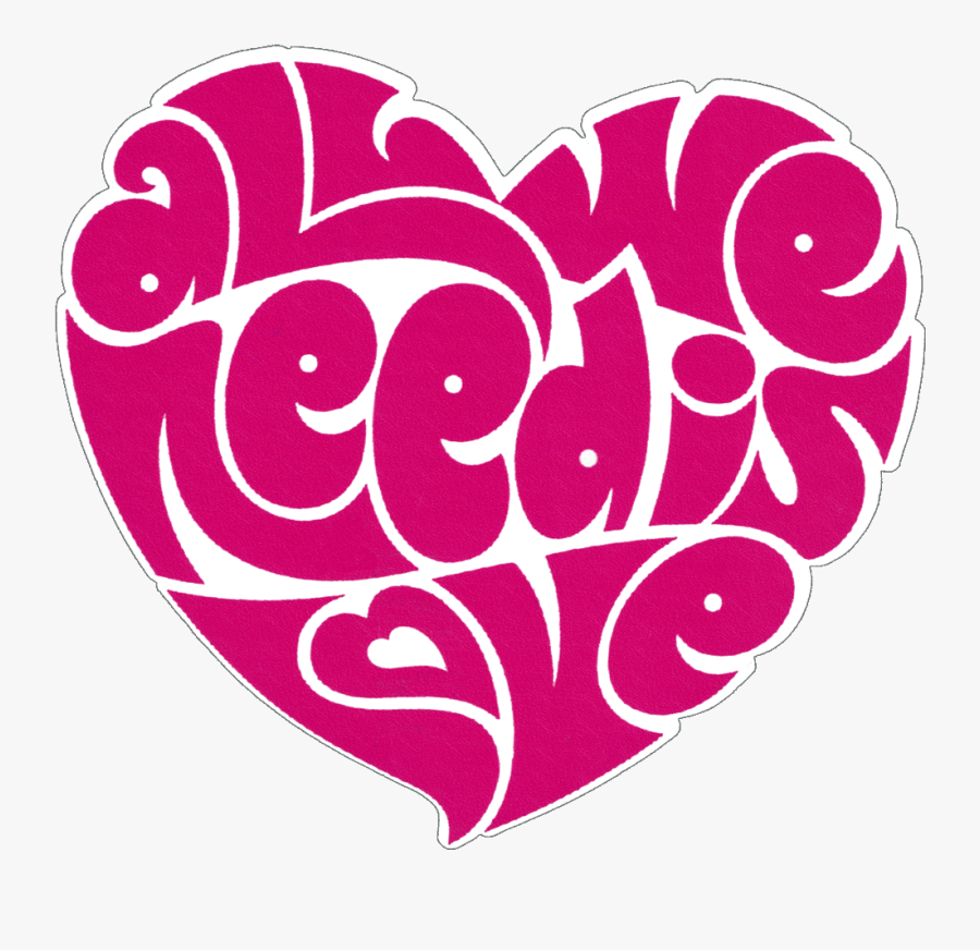 All You Need Is Love Heart, Transparent Clipart