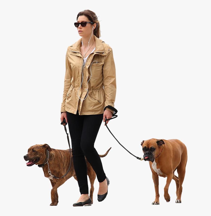 Person Walking Dog Png - Walking Dog Png, Transparent Clipart
