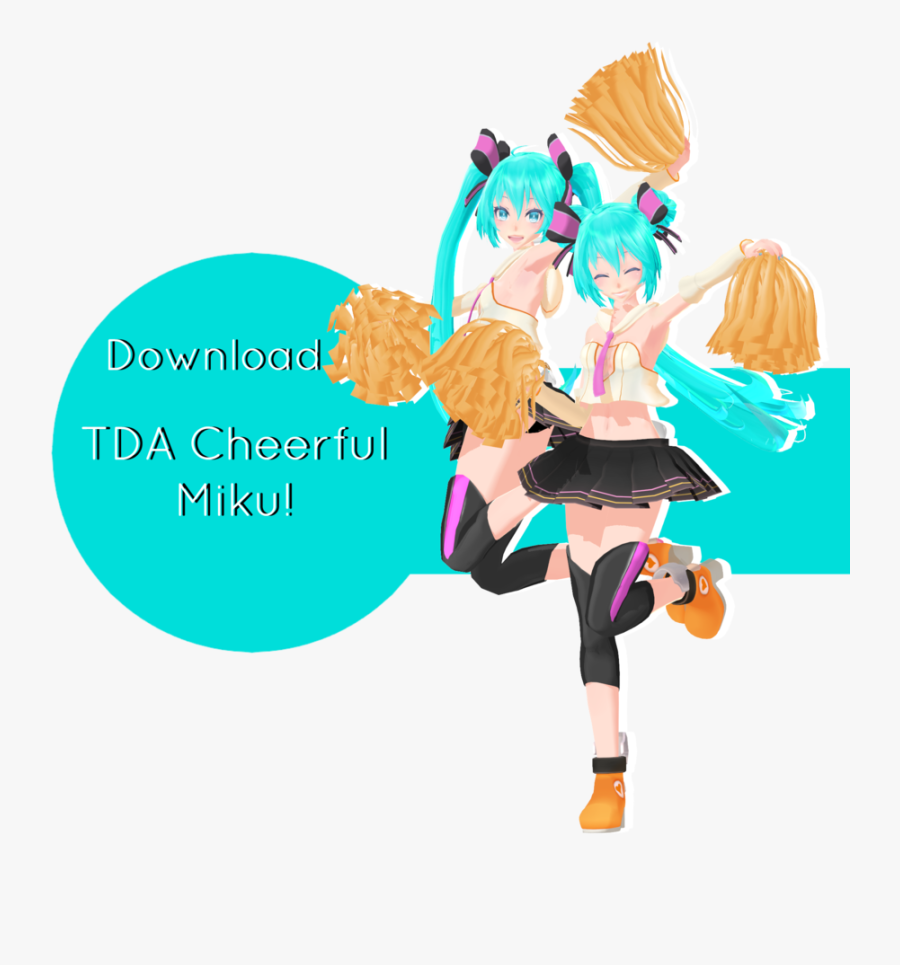Tda Cheerful Miku Download By Ohbey - Mmd Pom Poms Dl, Transparent Clipart