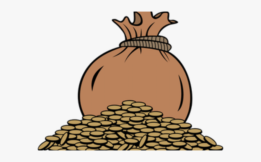 Coin Clipart 10 Peso - Bag Of Coins Clipart, Transparent Clipart