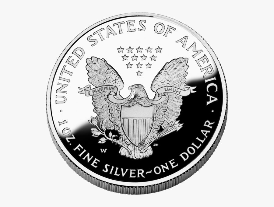American Silver Coin Png Image - United States Of America Fine Silver One Dollar, Transparent Clipart