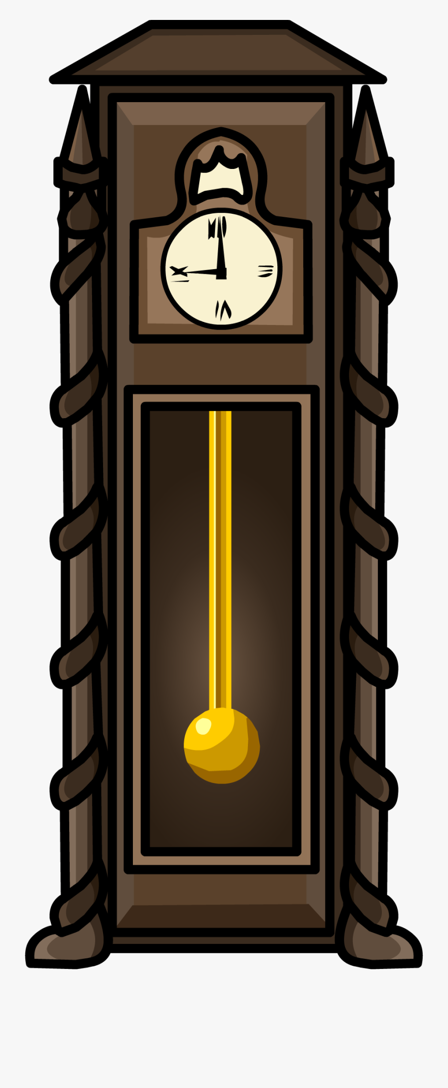 Transparent Vintage Clock Png - Club Penguin Clock Furniture, Transparent Clipart
