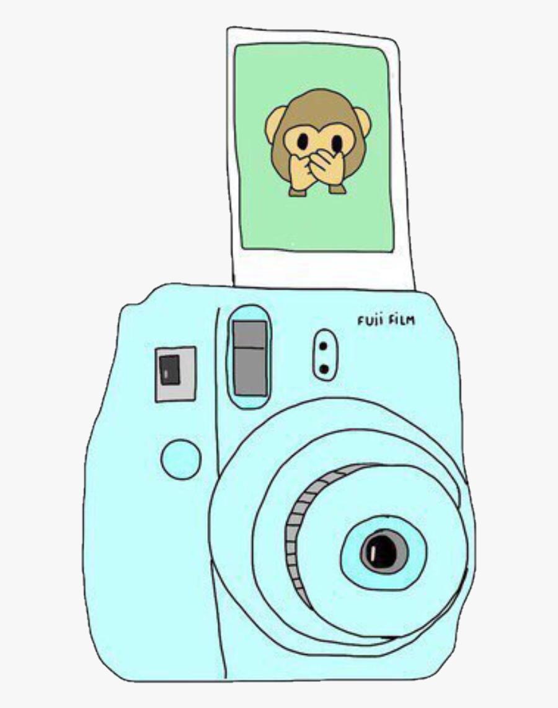 Camera Drawing Instant - Polaroid Camera Tumblr Png, Transparent Clipart