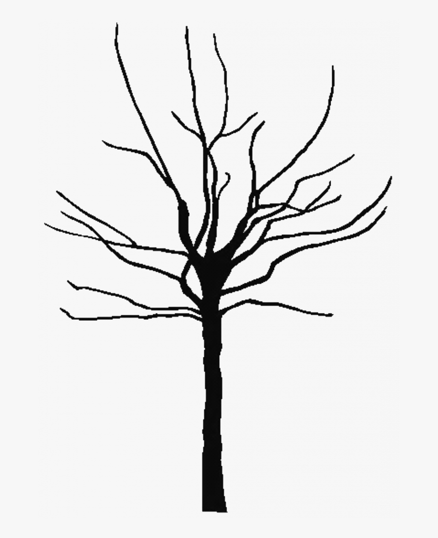 Leafless Tree Coloring Page - Tree Trunk Silhouette Png, Transparent Clipart