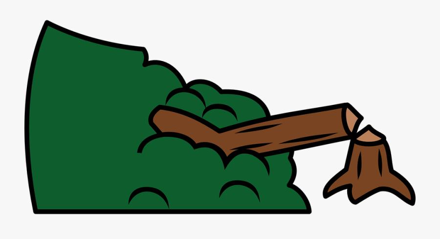 Clipart Forest Deforestation - Broken Tree Clip Art, Transparent Clipart