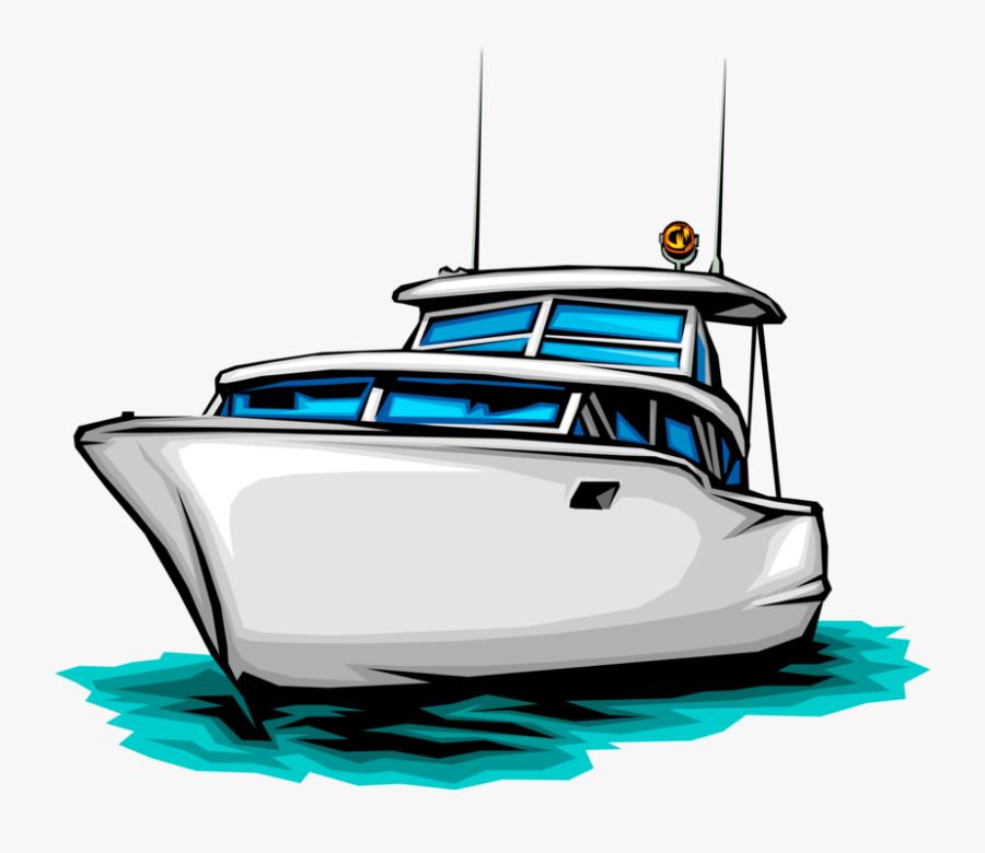 Transparent Boat Vector Png - Pleasure Craft Png, Transparent Clipart
