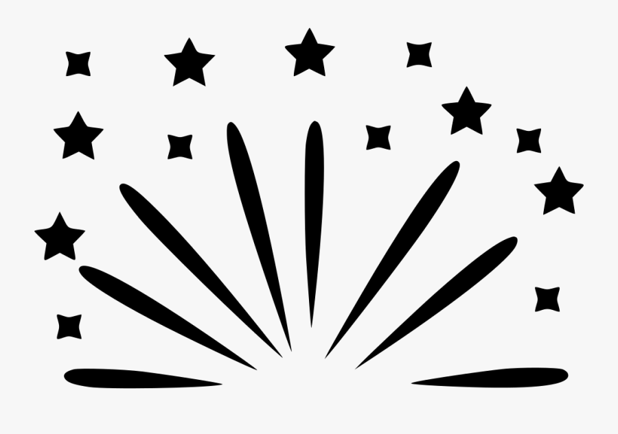 Party Firework Celebrate Comments - Grey And White Star Background, Transparent Clipart