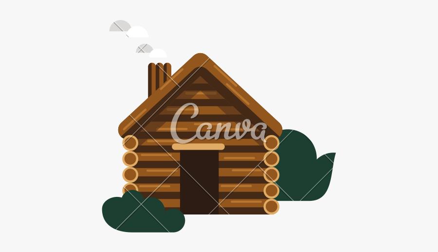 Cabin Vector - Illustration, Transparent Clipart