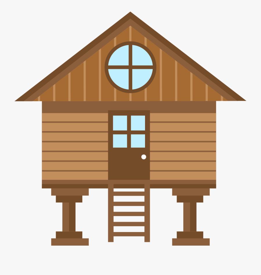 Clip Art Villa Gratis Transprent Png - Cartoon Log Cabin Png, Transparent Clipart