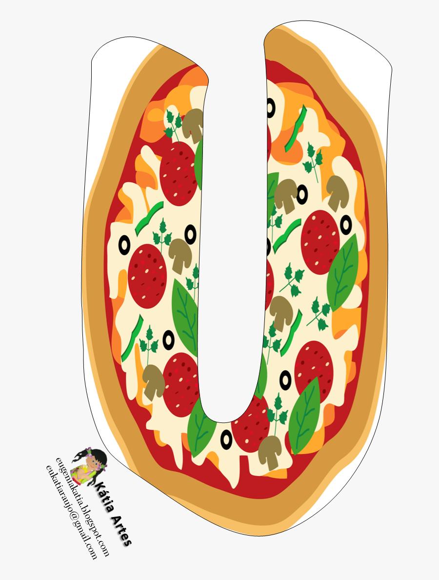 Pizza Clipart Bubble Letter Pin - Pizza Em Desenho Png, Transparent Clipart