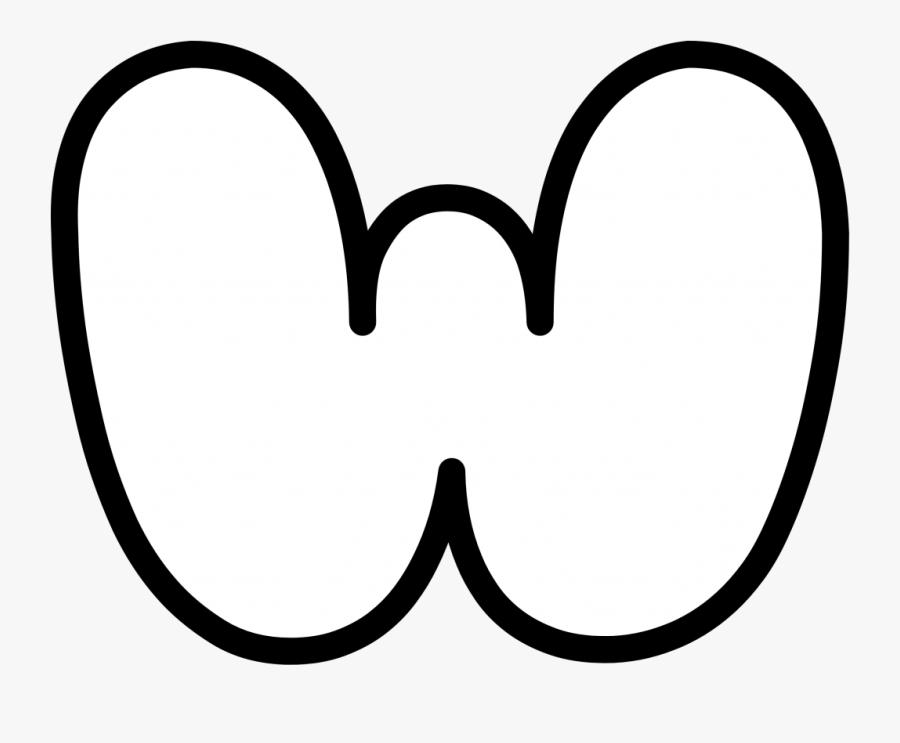 Uppercase Bubble Letter W - Bubble Letter W Uppercase, Transparent Clipart