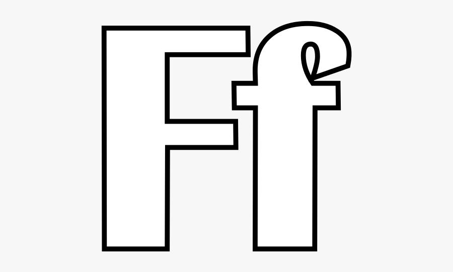 Alphabet Letter F Coloring Page - Alphabets Coloring Pages F, Transparent Clipart