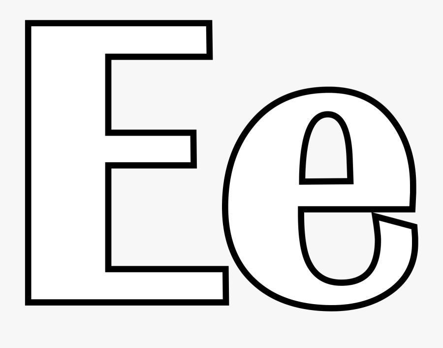 Bubble Letter E Coloring Pages Letters R Page Best - Alphabet E Coloring, Transparent Clipart
