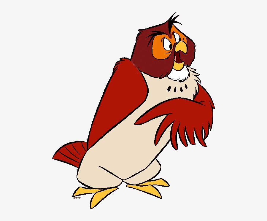 Owl Disney Cliparts - Eeyore Rabbit Tigger Piglet Pooh Owl, Transparent Clipart