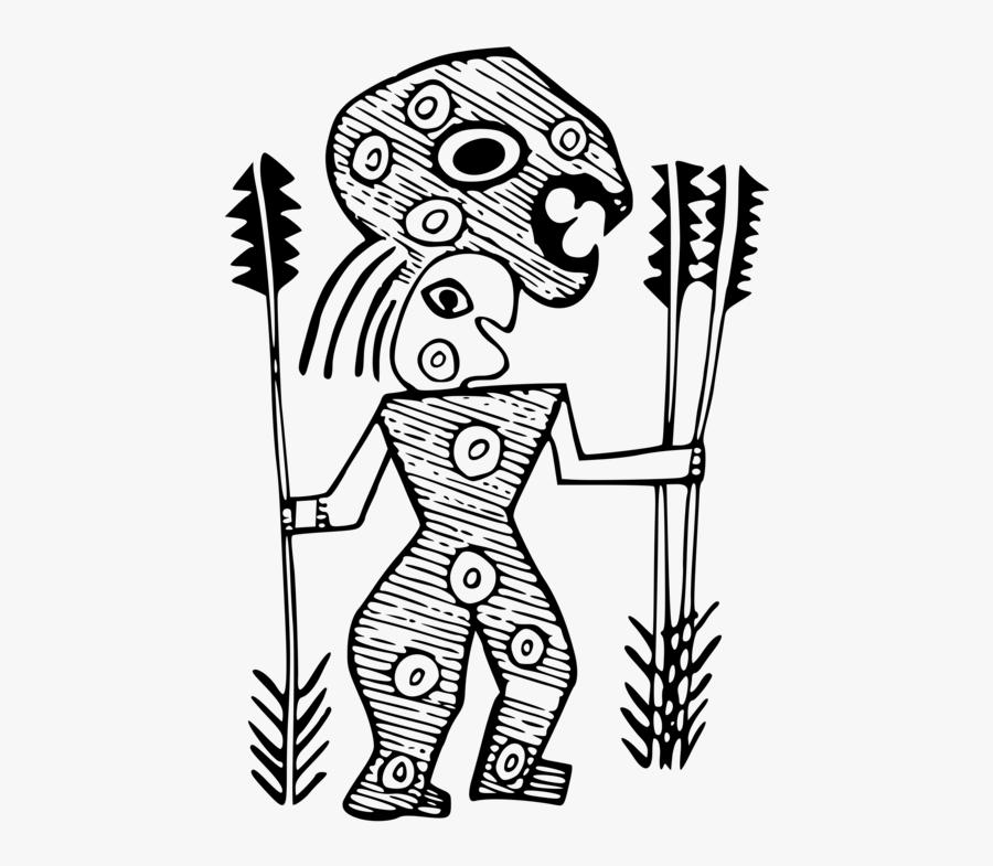 Art,skeleton,monochrome Photography - Indigenous Drawing Art, Transparent Clipart
