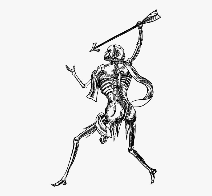 Art,skeleton,monochrome Photography - Skull Drawing, Transparent Clipart