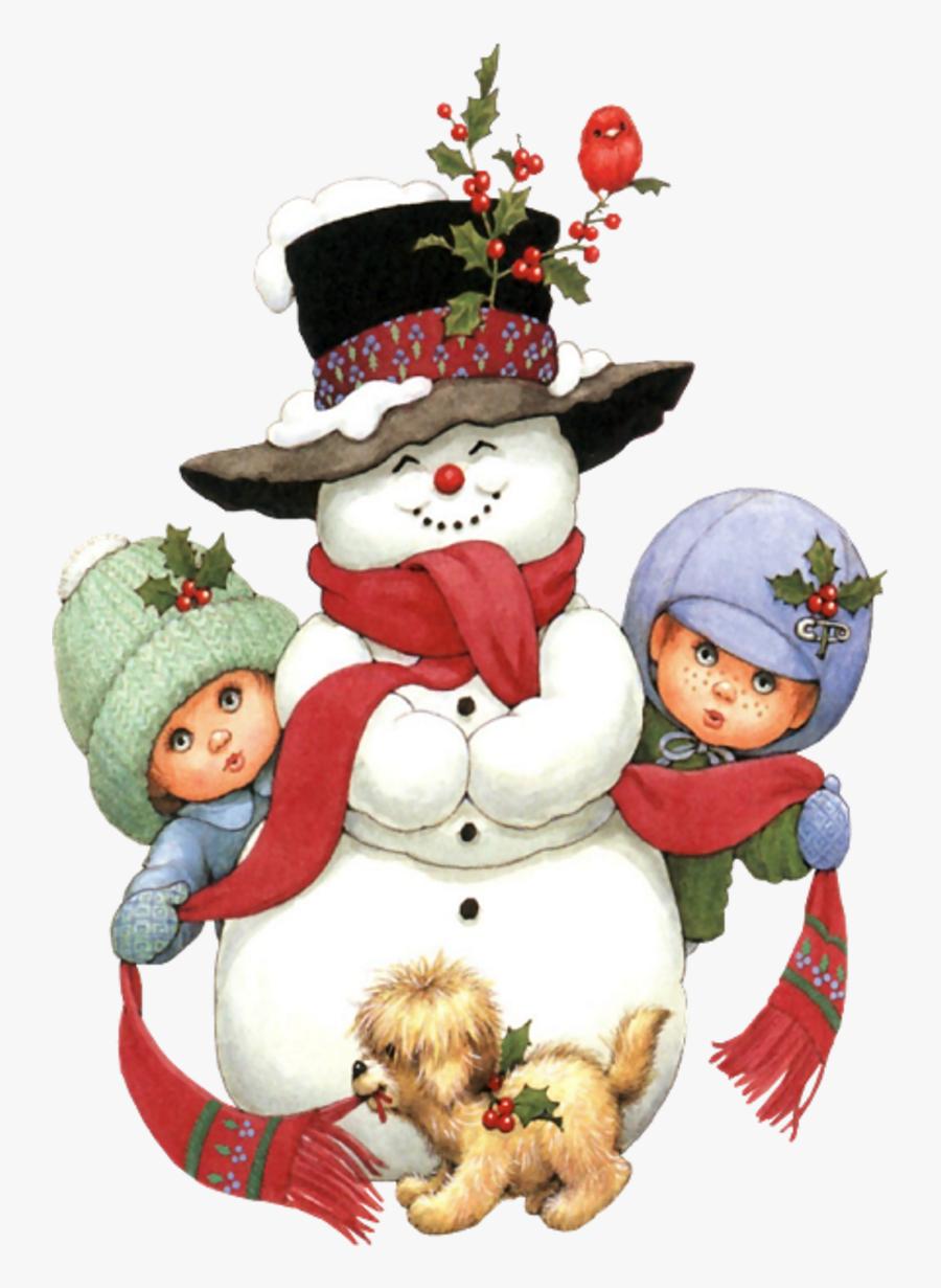 Kids Christmas Scene, Transparent Clipart