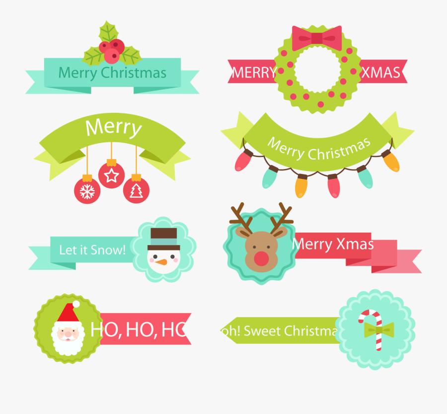 Transparent Sash Clipart - Vector Ribbon Christmas, Transparent Clipart