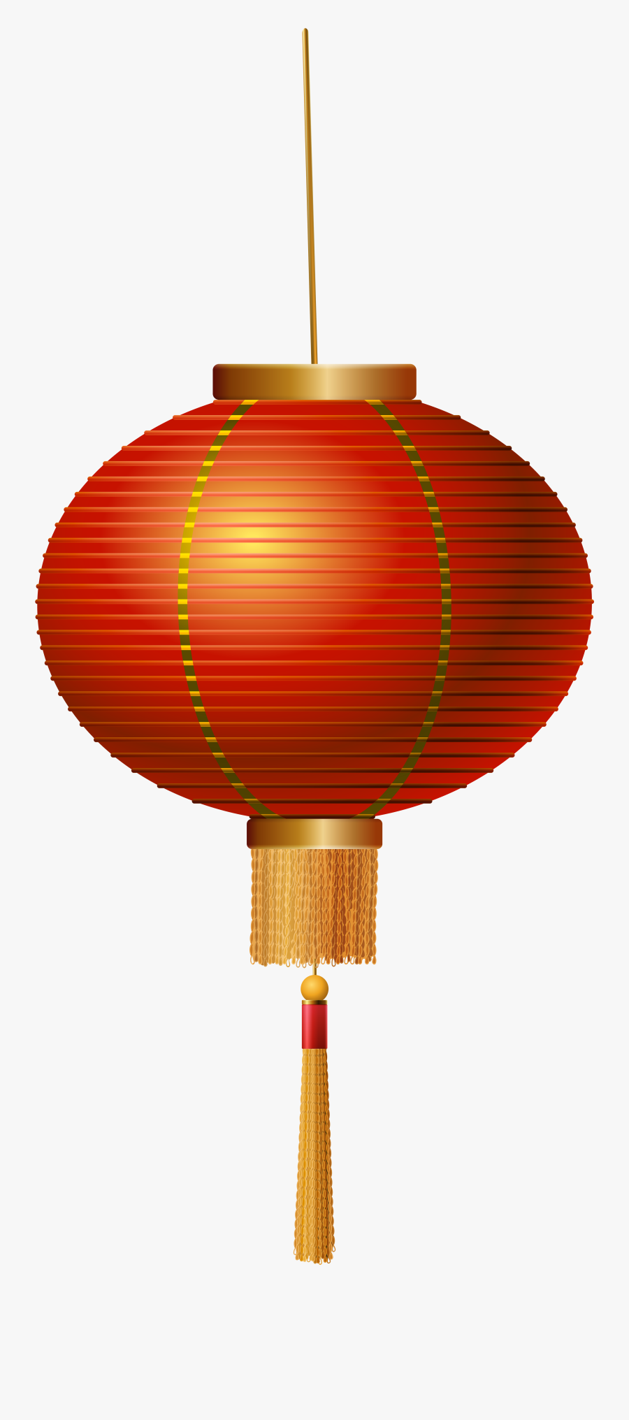 Red Chinese Lantern Png Clip Art - Chinese Lantern Transparent Background, Transparent Clipart