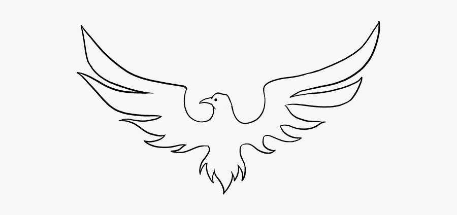 How To Draw Phoenix - Bird Easy Drawing, Transparent Clipart