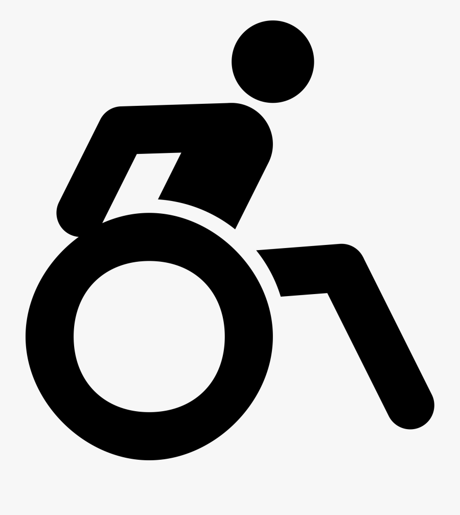 Area,monochrome Photography,text - Stick Person In Wheelchair, Transparent Clipart