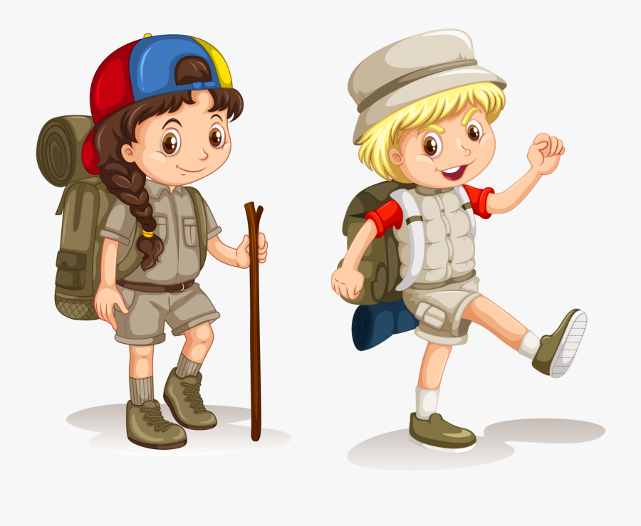 Camping Clipart Childrens - Boy Going To Camping, Transparent Clipart
