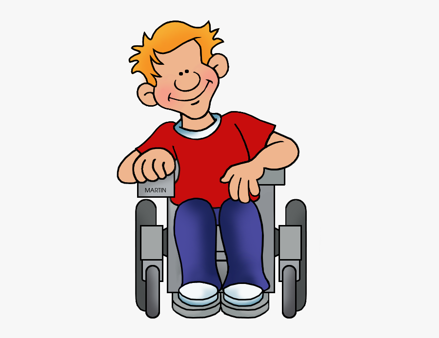 Clipart Child Wheelchair - Person In Wheelchair Clipart, Transparent Clipart