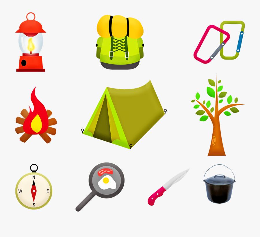 Camping Gear - Things You Take Camping Clipart, Transparent Clipart